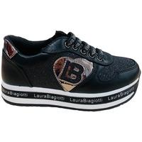 Scarpe Bambina Sneakers basse Laura Biagiotti 6644A BLACK Nero
