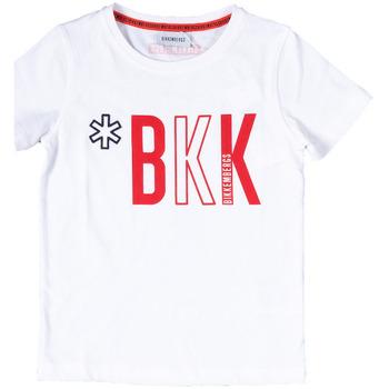 Abbigliamento Bambino T-shirt maniche corte Bikkembergs BK0252002 Bianco