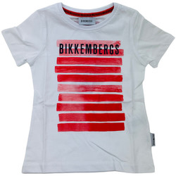Abbigliamento Bambino T-shirt maniche corte Bikkembergs BK0253002 Bianco