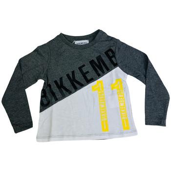 Abbigliamento Uomo T-shirts a maniche lunghe Bikkembergs BK0007004 Grigio