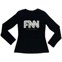 Abbigliamento Donna T-shirts a maniche lunghe Fun Fun FNJTS6867  002 Nero