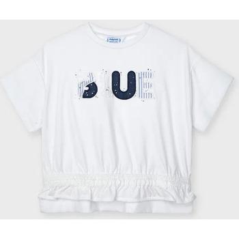 Abbigliamento Bambina T-shirt maniche corte Mayoral ATRMPN-26316 Bianco
