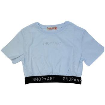 Abbigliamento Donna T-shirt maniche corte Shop Art 021118  01 Bianco