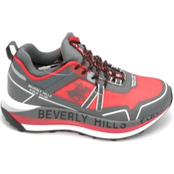 Scarpe Uomo Sneakers basse Beverly Hills 21HM634 Rosso-grigio