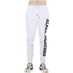 Abbigliamento Uomo Pantaloni da tuta Alpha Big Letters Jogger Bianco