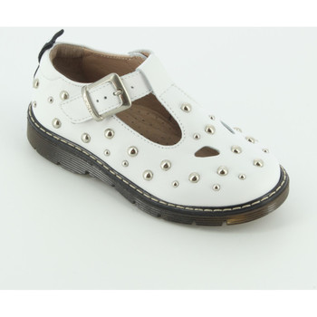 Scarpe Bambina Ballerine Twin Set GCB130 sandalo due occhi Bianco