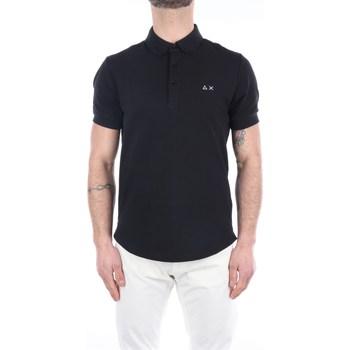 Abbigliamento Uomo Polo maniche corte Sun68 A31116 Maniche Corte Uomo Nero Nero