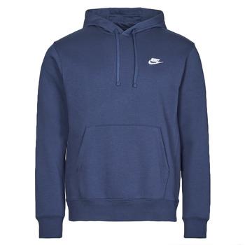Abbigliamento Uomo Felpe Nike NIKE SPORTSWEAR CLUB FLEECE Marine / Bianco