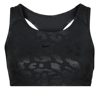 Abbigliamento Donna Reggiseno sportivo Nike W NP DF SWSH LEPARD SHINE BRA Nero