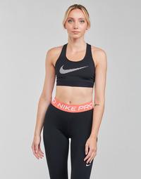 Abbigliamento Donna Reggiseno sportivo Nike W NK DF SWSH ICNCLSH GX BRA Nero / Bianco