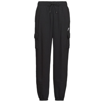 Abbigliamento Donna Pantaloni da tuta Nike W NSW ESSNTL FLC MR CRGO PNT Nero / Bianco