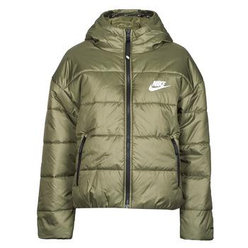 Abbigliamento Donna Piumini Nike W NSW TF RPL CLASSIC HD JKT Kaki / Bianco
