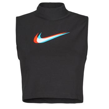 Abbigliamento Donna Top / T-shirt senza maniche Nike W NSW TANK MOCK PRNT Nero