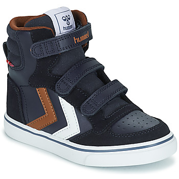 Scarpe Unisex bambino Sneakers alte Hummel STADIL PRO JR Blu / Marrone