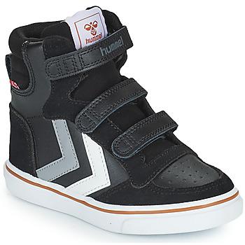 Scarpe Unisex bambino Sneakers alte Hummel STADIL PRO JR Nero / Grigio