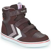 Scarpe Bambina Sneakers alte Hummel STADIL PRO JR Bordeaux