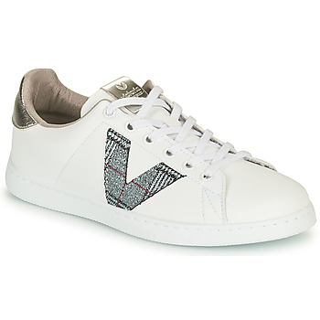 Scarpe Donna Sneakers basse Victoria TENIS PIEL VEGANA Bianco / Grigio
