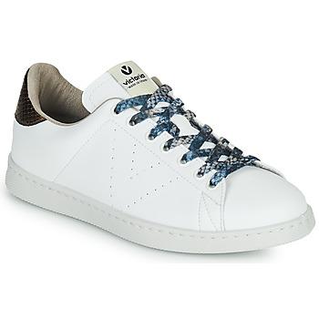 Scarpe Donna Sneakers basse Victoria TENIS VEGANO SERPIENTE Bianco / Bronzo