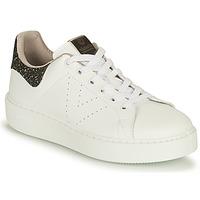 Scarpe Donna Sneakers basse Victoria UTOPIA VEGANA GLITTER Bianco / Nero