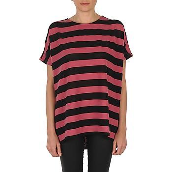 Abbigliamento Donna T-shirt maniche corte Vero Moda CHELLA 2/4 LONG TOP KM Nero / Rosa
