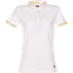Abbigliamento Donna Polo maniche corte Colmar Polo cIn Cotone Bianco Bianco