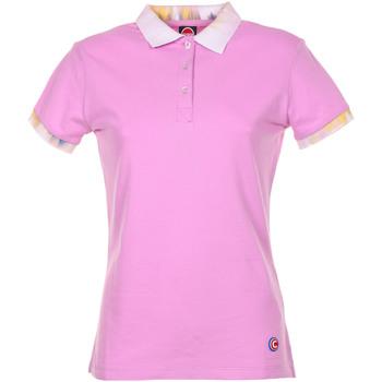 Abbigliamento Donna Polo maniche corte Colmar Polo In Cotone Rosa Rosa