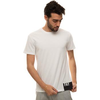 Abbigliamento Uomo T-shirt maniche corte Fay NPMB3421310-SHOB001 Bianco