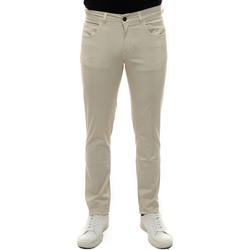 Abbigliamento Uomo Pantaloni 5 tasche Fay NTM8242180T-GURB015 Panna