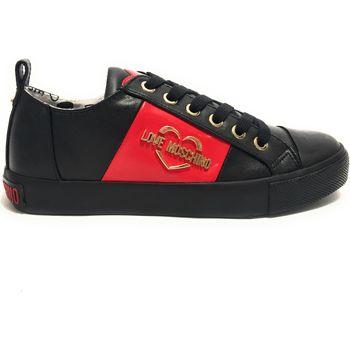 Scarpe Donna Derby & Richelieu Moschino Scarpe donna Love  sneaker ecopelle nappa nero D20MO11 Grey