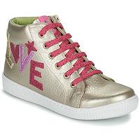 Scarpe Bambina Sneakers alte Agatha Ruiz de la Prada FLOW Beige / Rosa