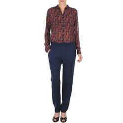 Abbigliamento Donna Pantaloni morbidi / Pantaloni alla zuava Marc O'Polo ALBA Blu / Scuro / Rosso