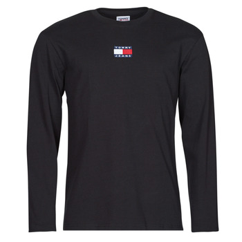 Abbigliamento Uomo T-shirts a maniche lunghe Tommy Jeans TJM LS TOMMY BADGE TEE Nero
