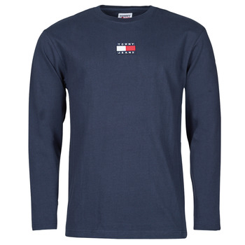 Abbigliamento Uomo T-shirts a maniche lunghe Tommy Jeans TJM LS TOMMY BADGE TEE Marine