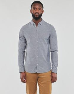Abbigliamento Uomo Camicie maniche lunghe Tommy Jeans TJM STRETCH OXFORD SHIRT Nero