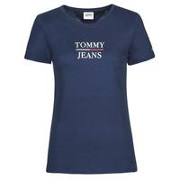 Abbigliamento Donna T-shirt maniche corte Tommy Jeans TJW SKINNY ESSENTIAL TOMMY T SS Marine