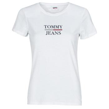 Abbigliamento Donna T-shirt maniche corte Tommy Jeans TJW SKINNY ESSENTIAL TOMMY T SS Bianco