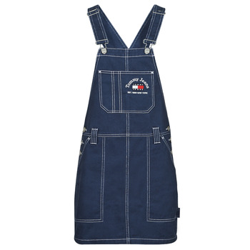 Abbigliamento Donna Tuta jumpsuit / Salopette Tommy Jeans TJW TIMELESS DUNGAREE DRESS Blu / Medium