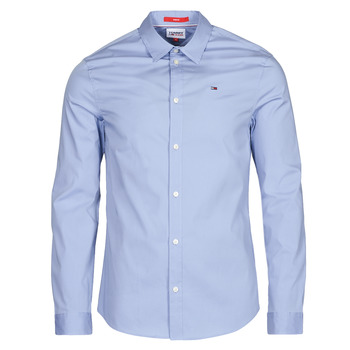 Abbigliamento Uomo Camicie maniche lunghe Tommy Jeans TJM ORIGINAL STRETCH SHIRT Blu