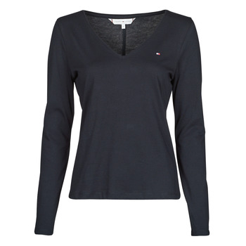 Abbigliamento Donna T-shirts a maniche lunghe Tommy Hilfiger REGULAR CLASSIC V-NK TOP LS Marine