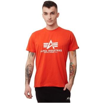 Abbigliamento Uomo T-shirt maniche corte Alpha Basic Rosso