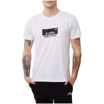 Abbigliamento Uomo T-shirt maniche corte Alpha Box Logo Bianco