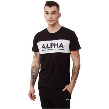 Abbigliamento Uomo T-shirt maniche corte Alpha Alpha Inlay Bianco, Nero