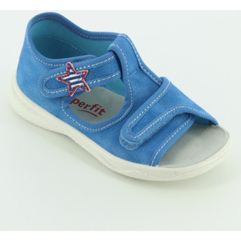 Scarpe Unisex bambino Sandali Superfit 293X sandalo  tela aperto Blu