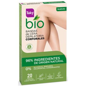 Bellezza Donna Accessori per il corpo Taky Bio Natural 0% Bandas De Cera Corporales Depilatorias