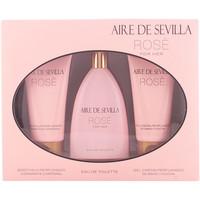 Bellezza Donna Cofanetti di profumi Aire Sevilla Aire De Sevilla Rosè Lote 3 Pz 3 u