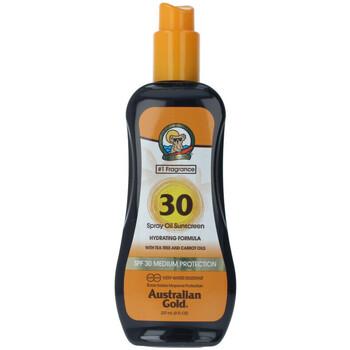 Bellezza Protezione solari Australian Gold Sunscreen Spf30 Spray Oil Hydrating With Carrot