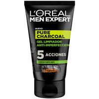 Bellezza Uomo Detergenti e struccanti L'oréal Men Expert Pure Charcoal Gel Limpiador Purificante L'Oreal Make