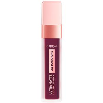 Bellezza Donna Rossetti L'oréal Les Macarons Ultra Matte Liquid Lipstick 830-blackcurrant C