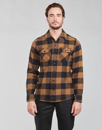 Abbigliamento Uomo Camicie maniche lunghe Dickies NEW SACRAMENTO SHIRT Camel / Nero