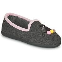 Scarpe Donna Pantofole Isotoner 97311 Grigio / Rosa
